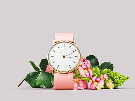 Clock, Flowers, Time, Time Of, Peony, Rose, Nostalgia