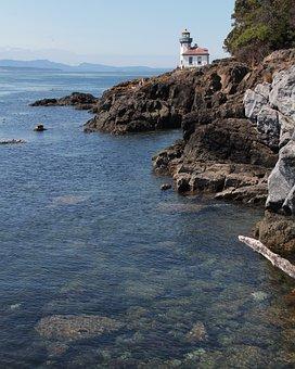 Lighthouse, Cliff, Sea, Coast, Ocean, Water