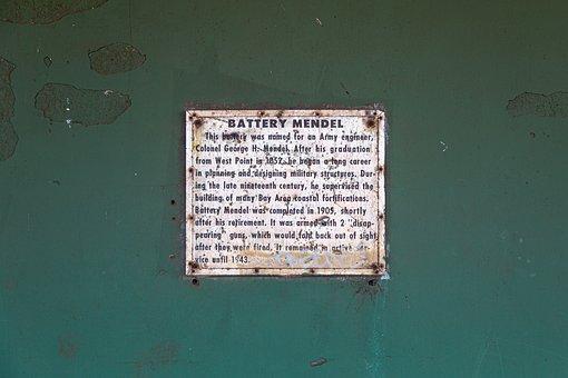 Door, Tag, Metal, Rust, Mendel, Painted, Old
