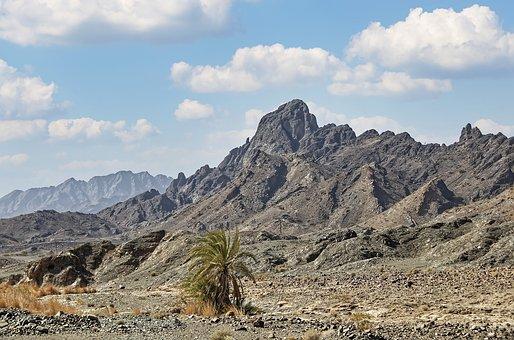 Oman, Region Of Az-zahira, Landscape, Mountains, Rock