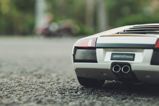 Lamborghini Murcielago, Model Car, Car, Rear, Model