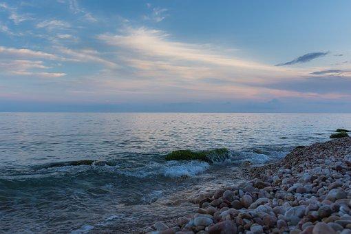Coast, Sea, Dusk, Rocks, Stones, Seashore, Coastline