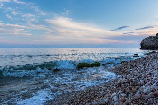 Coast, Sea, Dusk, Rocks, Stones, Seashore, Coastline