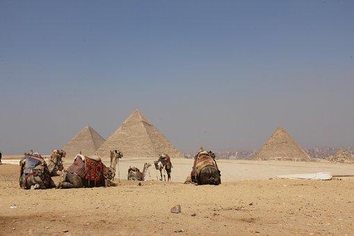 Egypt, Pyramids, Desert, Sand, Giza, Cairo