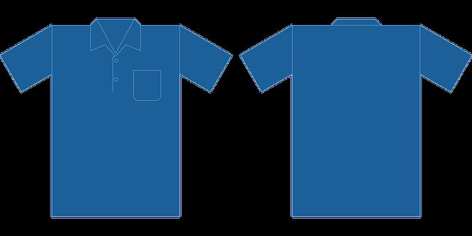 Polo Shirt, Blue, Mockup, Shirt, Uniform, Clothing, Top