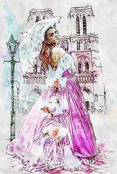 Woman, Southern Belle, Photo Art, Fashion, Dress