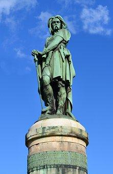 Statue, Vercingétorix, Alise-sainte-reine, Celtic