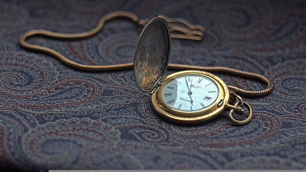 Pocket Watch, Time, Antique, Clock, Vintage, Minutes