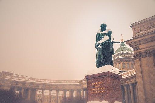 Peterburg, Church, Travel, Winter, Statue