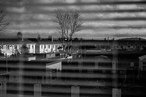 Window, Town, Black And White, Buildings, Houses, Urban
