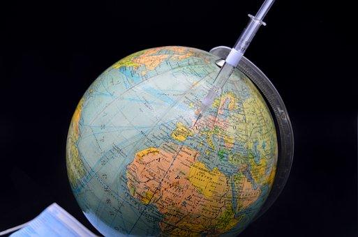 Syringe, Globe, Vaccination, Worldwide Vaccination