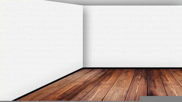 Empty Room, Virtual Classroom, Background, White, Walls