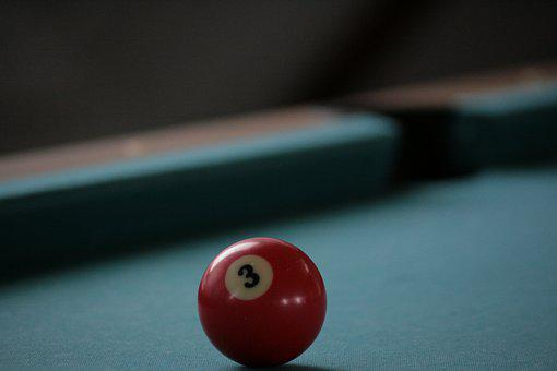 Billiard Ball, Pool Table, Billiards, Ball, Leisure