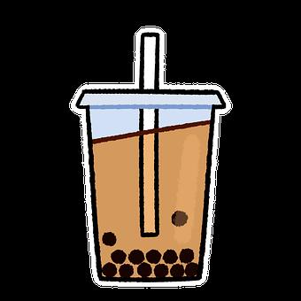 Bubble Tea, Tea, Drink, Boba, Kawaii, Cup, Beverage