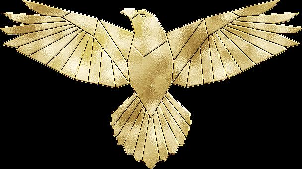 Eagle, Bird, Gold Foil, Gold Foil Eagle
