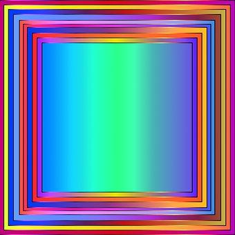 Digital Paper, Border, Colorful, Frame, Bright Colors