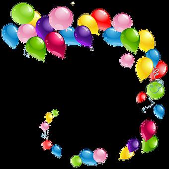 Balloons, Flying, Decoration, Celebration, Birthday