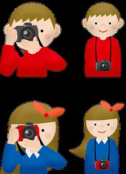 Children, Camera, Photography, Children With Cameras