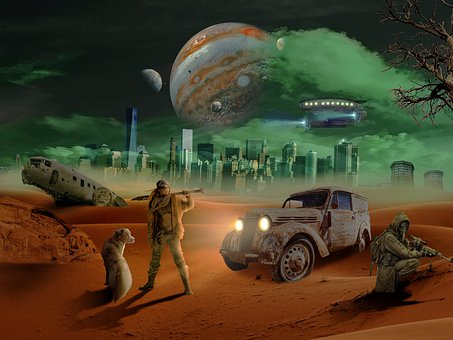 Apocalypse, City, Photo Manipulation, Space, Planets