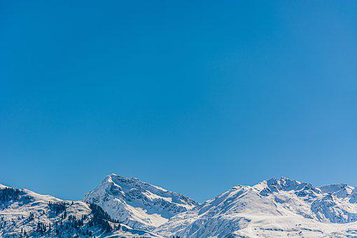 Mountains, Peak, Snow, Sky, Summit, Winter, Cold