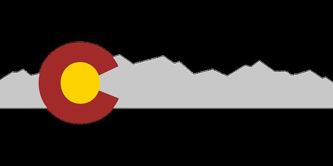 Colorado Flag, Mountains, Flag, Colorado, State