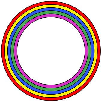 Rainbow, Circle, Frame, Round, Border, Colorful