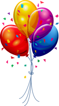 Balloons, Confetti, Decoration, Celebration, Birthday
