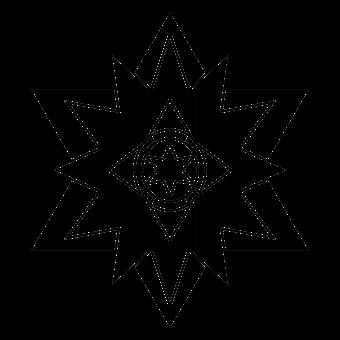 Star, Sheriff, Symbol, Outline, Design