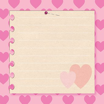 Digital Paper, Hearts, Copy Space, Greeting, Decoration