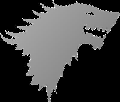 House Stark, Wolf, Logo, Symbol, Head, Direwolf