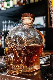 Bottle, Liquor, Alcohol, Drink, Glass, Whiskey
