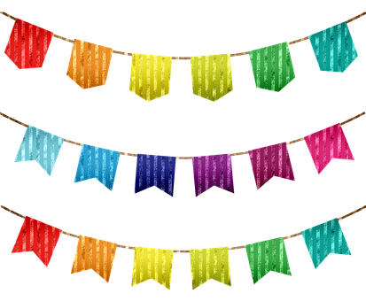 Banner, Flags, Colorful, Glitter, Colorful Bunting