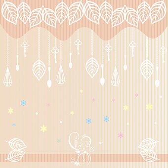 Digital Paper, Leaves, Card, Floral