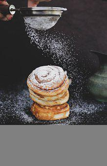 Bread, Sieve, Sugar, Flour, Pastry, Baking, Baked