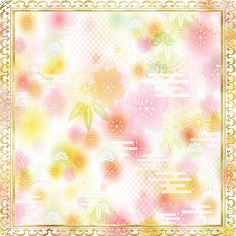 Digital Paper, Flower, Pattern, Frame, Border