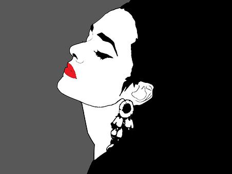 Girl, Woman, Dama, Mujer, Perfil, Portait, Pop Art