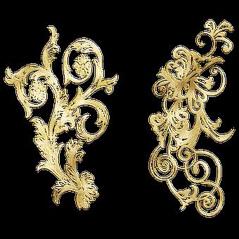 Flourish, Ornamental, Gold Foil, Gold Foil Flourish