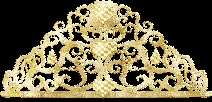 Gold Foil, Tiara, Crown, Princess, Gold Foil Tiara