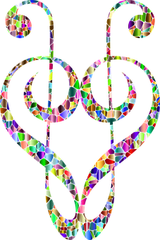 Clef, Heart, Tiles, Love, Romance, Romantic, Passion