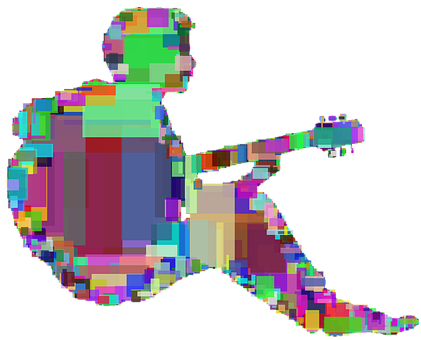 Man, Guitar, Squares, Playing, Instrument, Person