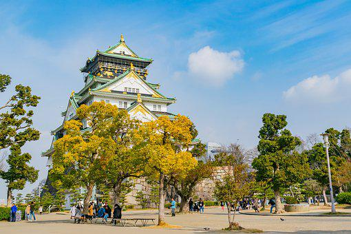 Osaka, Castle, Landmark, Travel, Japan, Landscape