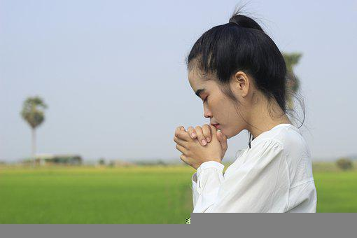 Woman, Gesture, Praying, Girl, Person, Christian, Khmer