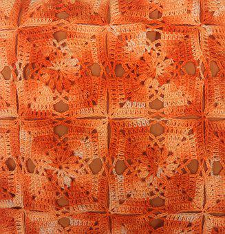 Crochet, Point, Color, Orange, Sewing, Embroidery