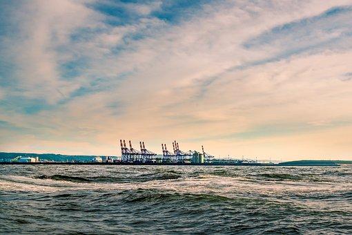 Ocean, Sea, Ship, Construction, Port