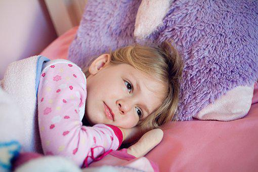 Girl, Kid, Bed, Rest, Child, Little, Childhood, Cute
