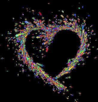 Heart, Love, Splatter, Romance, Romantic, Frame, Border