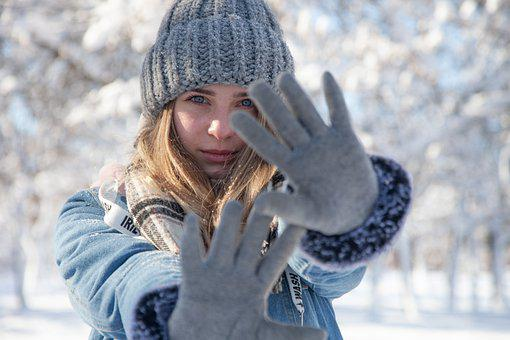 Girl, Fashion, Winter, Mood, Cold, Gloves, Scarf, Cap