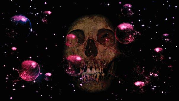 Star, Sky, Composing, Skull And Crossbones, Weird