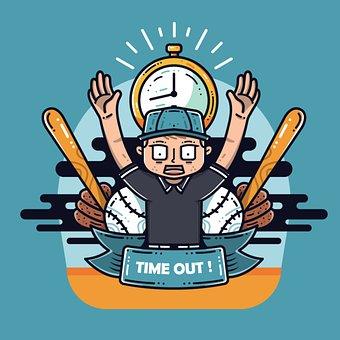 Coach, Baseball, Bat, Ball, Timer, Match, Sport