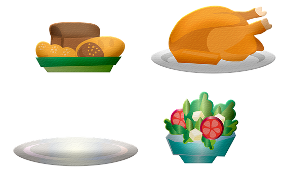 Food, Turkey, Thanksgiving, Turkey Dinner, Bread, Salad
